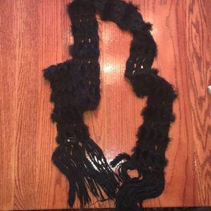 Funky black scarf